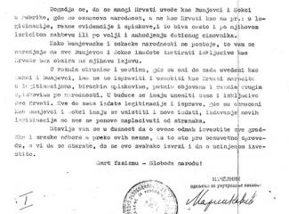 Dekret iz 1945 - SBB saopštenje