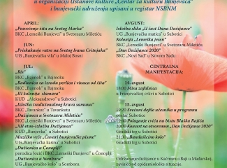 """Program obilužavanja nacionalnog praznika Bunjevaca """"Dan Dužijance 2020"""""""